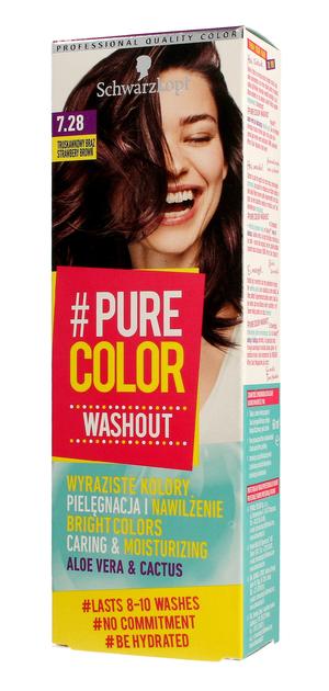 """Schwarzkopf Pure Color Washout Żel koloryzujący do włosów  nr 7.28 Truskawkowy Brąz  1op."""""""