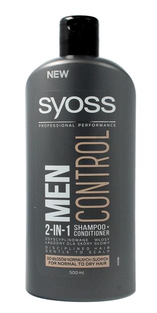 """Schwarzkopf Syoss Men Control Szampon 2in1 do włosów normalnych i suchych  500ml"""""""