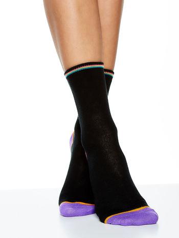 Skarpetki damskie czarne kolorowa stopa i palce mix 5 par                                  zdj.                                  10