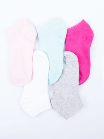 Skarpetki damskie stopki gładkie różne kolory mix 5 par                                  zdj.                                  12