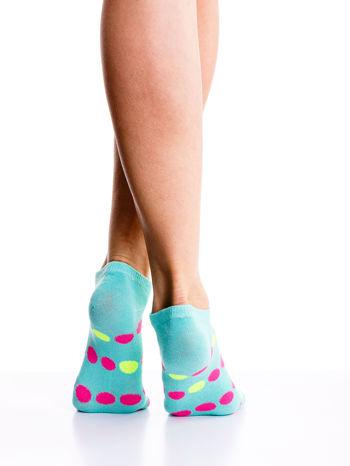 Skarpetki damskie stopki kropki-gładkie mix 5 par                                  zdj.                                  6