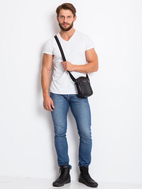 Skórzana torba męska listonoszka czarna                              zdj.                              4