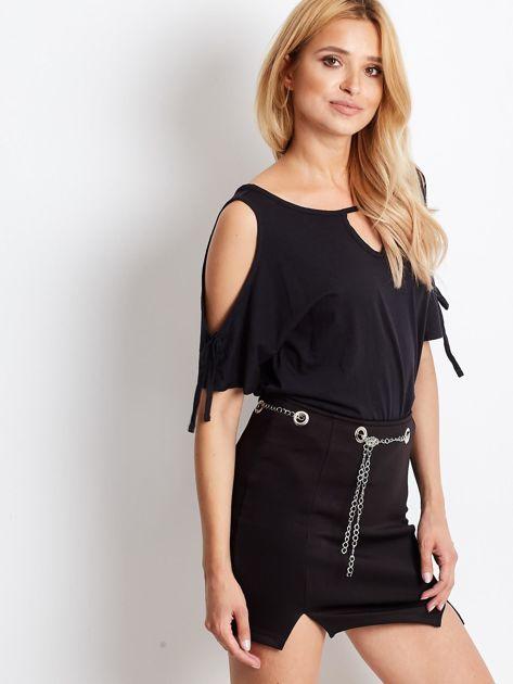 Spódnica czarna z łańcuszkiem                              zdj.                              5