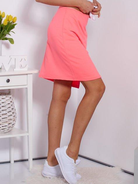 Spódnica dresowa fluo różowa z suwakiem                              zdj.                              3