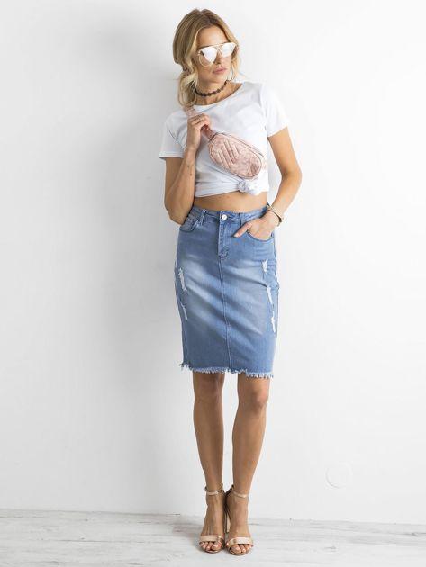 Spódnica jeansowa niebieska                              zdj.                              5
