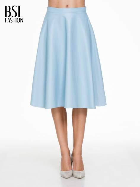 Spódnica midi szyta z półkola w kolorze baby blue                                  zdj.                                  1