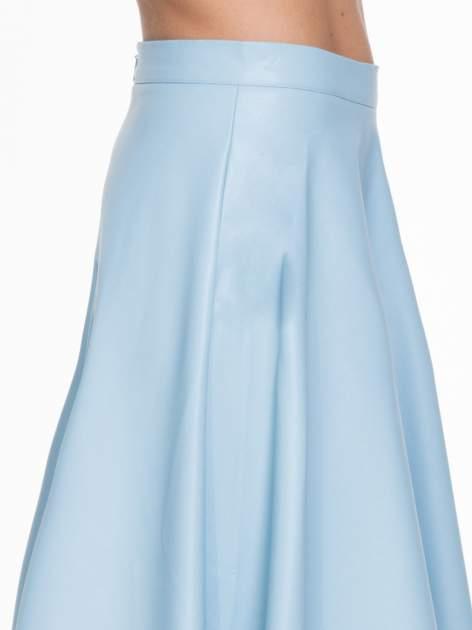 Spódnica midi szyta z półkola w kolorze baby blue                                  zdj.                                  5