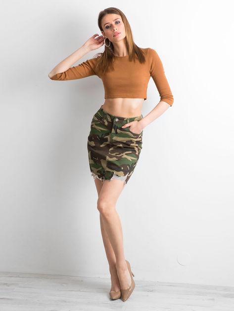 Spódnica mini we wzór moro                              zdj.                              4