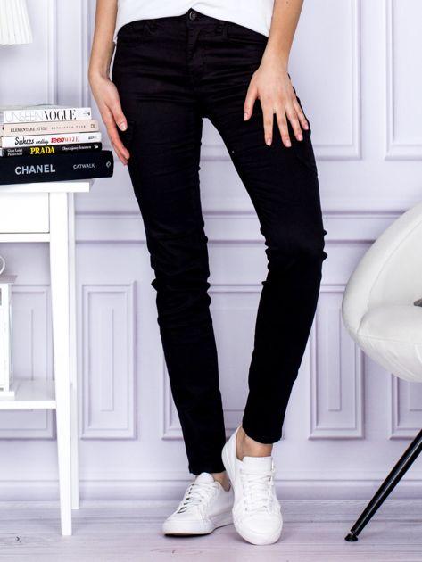 Spodnie czarne z kieszeniami PLUS SIZE                                  zdj.                                  1