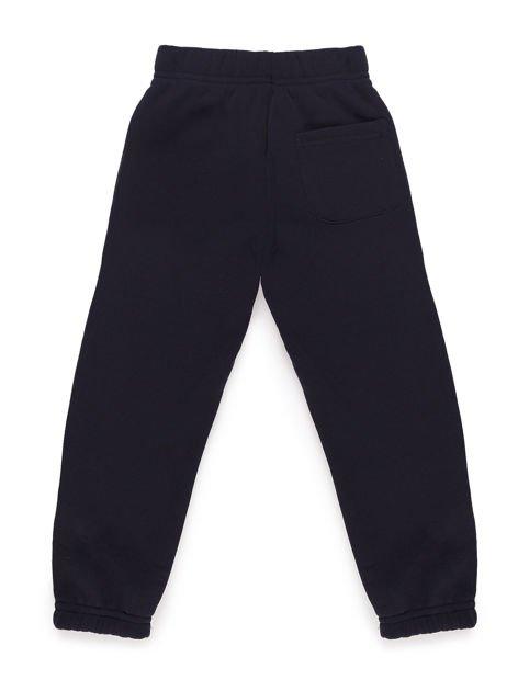 Spodnie dresowe chłopięce ocieplane granatowe