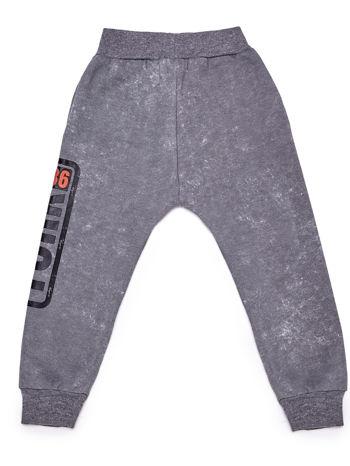 Spodnie dresowe chłopięce szare z napisem YORK 1986