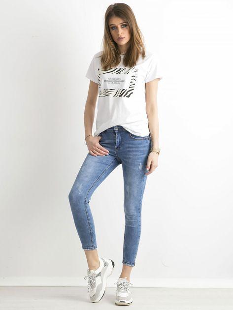 Spodnie jeansowe slim fit niebieskie                              zdj.                              4