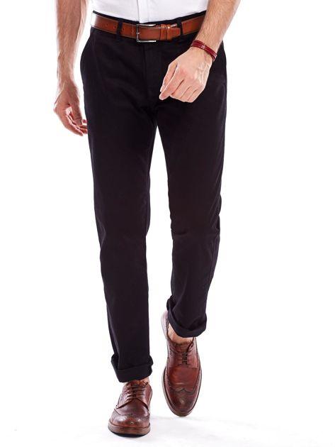 Spodnie męskie czarne o prostym kroju                              zdj.                              6