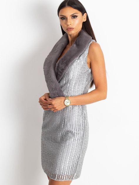 Srebrna sukienka Boost                              zdj.                              3