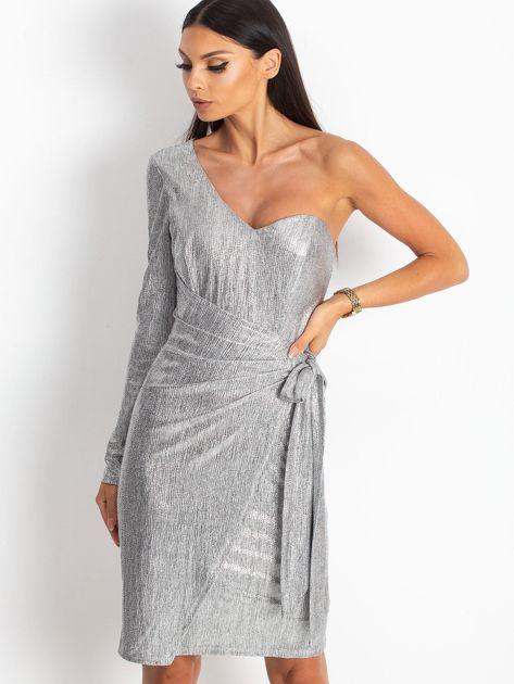 Srebrna sukienka Party                              zdj.                              1