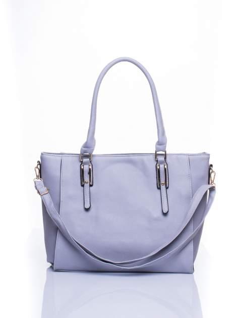 Srebrna torba shopper bag z odpinanym paskiem                                  zdj.                                  1
