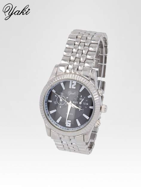 Srebrny zegarek damski boyfriend watch na bransolecie                                  zdj.                                  2