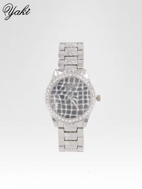Srebrny zegarek damski na bransolecie z cyrkoniową kopertą                                  zdj.                                  1