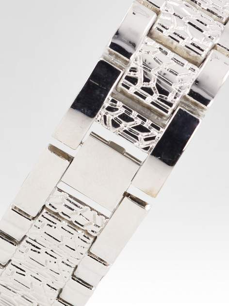 Srebrny zegarek damski na bransolecie z cyrkoniową kopertą                                  zdj.                                  4