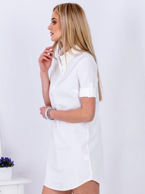 Sukienka biała z kołnierzykiem                              zdj.                              3