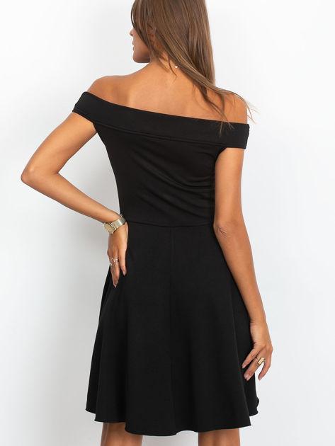 Sukienka czarna z perełkami                              zdj.                              2