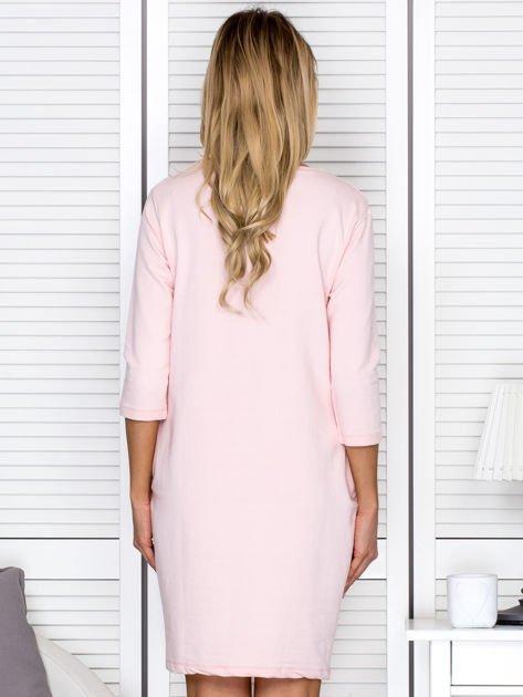 Sukienka damska różowa z diamentem                              zdj.                              2