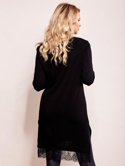 Sukienka damska z koronką czarna                              zdj.                              2