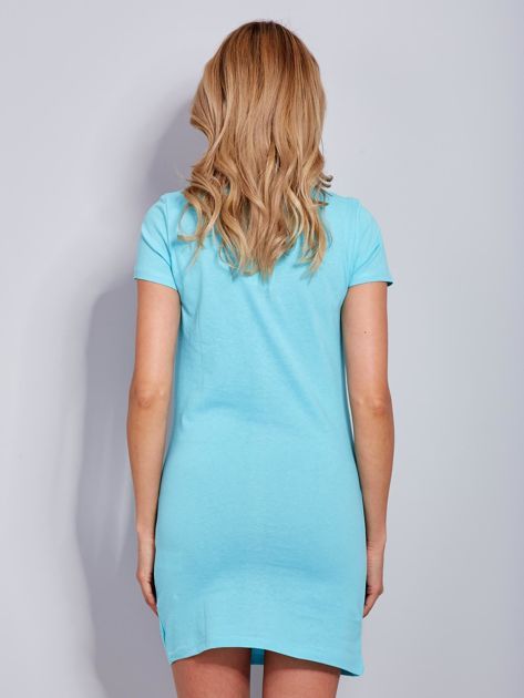 Sukienka jasnoniebieska bawełniana COOL STORY BRO                                  zdj.                                  3