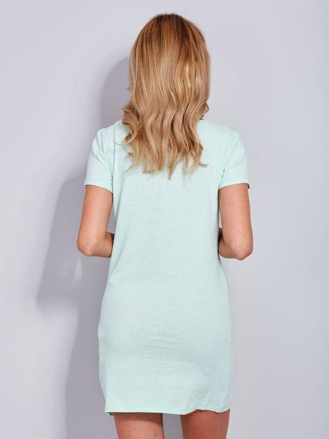 Sukienka miętowa bawełniana COOL STORY BRO                              zdj.                              3