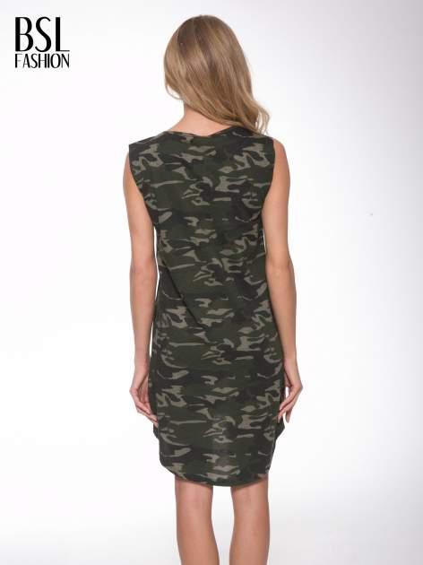 Sukienka moro z nadukiem SELFIE i dłuższym tyłem                                  zdj.                                  4