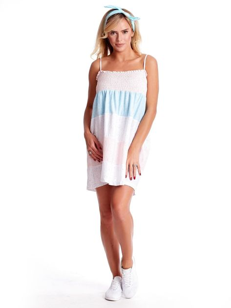 Sukienka w szerokie kolorowe paski                              zdj.                              4