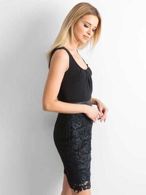 Sukienka z koronką czarna                              zdj.                              3