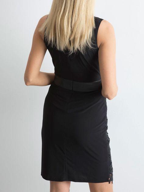 Sukienka z koronką czarna                              zdj.                              2