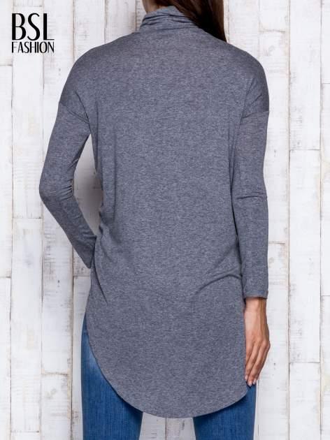 Szara asymetryczna bluzka z golfem                                  zdj.                                  6