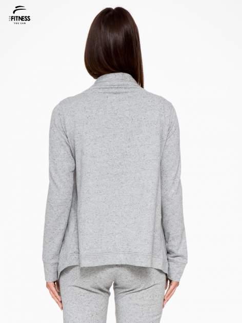 Szara bluza dresowa typu kardigan                                  zdj.                                  4