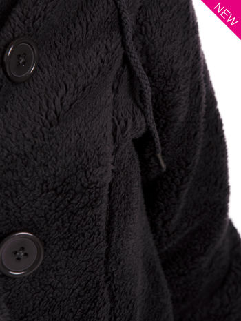 Szara bluza futerkowa z kapturem i rękawami z otworem na kciuk                                  zdj.                                  12