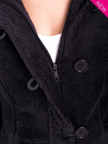 Szara bluza futerkowa z kapturem i rękawami z otworem na kciuk                                  zdj.                                  13