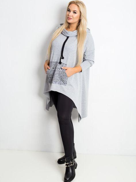 Szara bluza plus size Without                              zdj.                              4