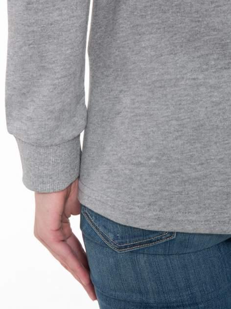 Szara bluza z nadrukiem HOMIÈS                                  zdj.                                  7