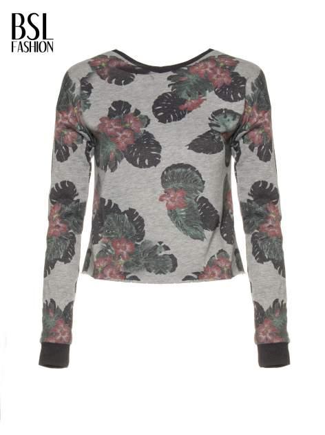 Szara bluza z nadrukiem floral print                                  zdj.                                  5
