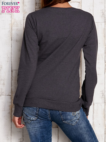 Szara bluza z napisem BULLS                                  zdj.                                  4