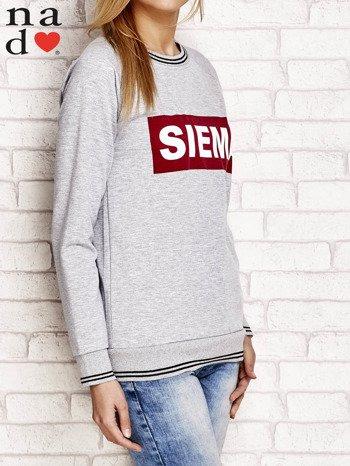 Szara bluza z napisem SIEMA                                  zdj.                                  3