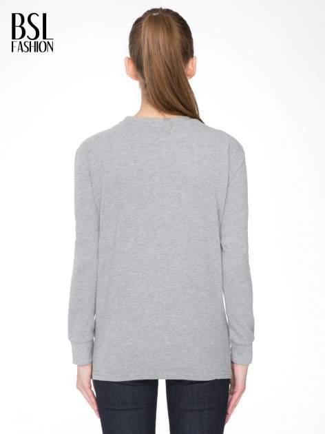Szara bluza z narukiem AIN'T LAURENT WITHOUT YVES                                  zdj.                                  4