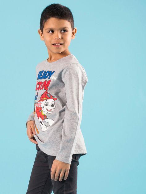 Szara bluzka dziecięca z nadrukiem PSI PATROL                              zdj.                              2