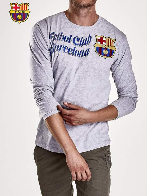 Szara bluzka męska FC BARCELONA                                  zdj.                                  5