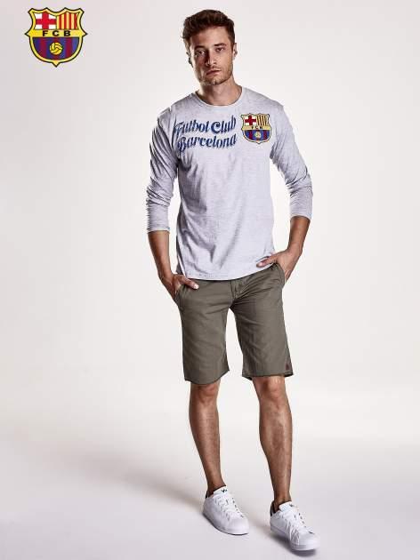 Szara bluzka męska FC BARCELONA                                  zdj.                                  4