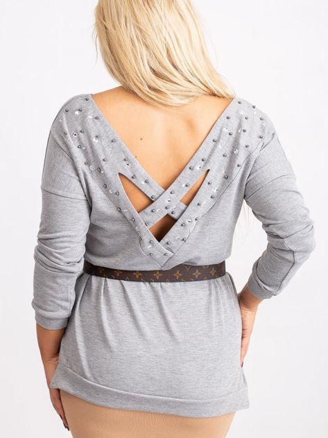 Szara bluzka plus size Alexa                              zdj.                              2
