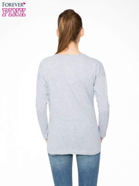 Szara bluzka w stylu fashion                                  zdj.                                  4