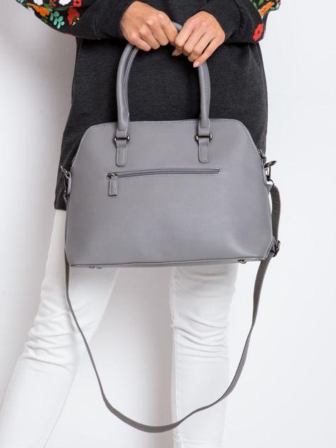 Szara damska torba z ekoskóry                              zdj.                              3