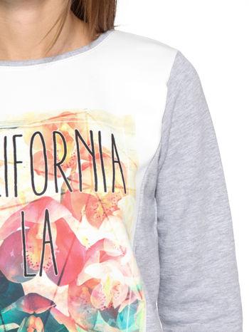 Szara dresowa bluza z nadrukiem CALIFORNIA LA                                  zdj.                                  7